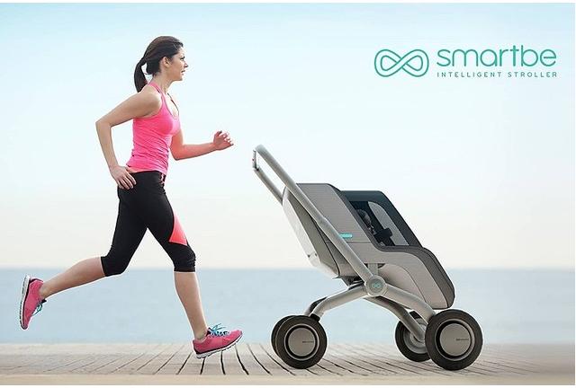 Image of 自動運転ベビーカー「Smartbe Stroller(スマートビー)」!米国はベビーカーとランニング