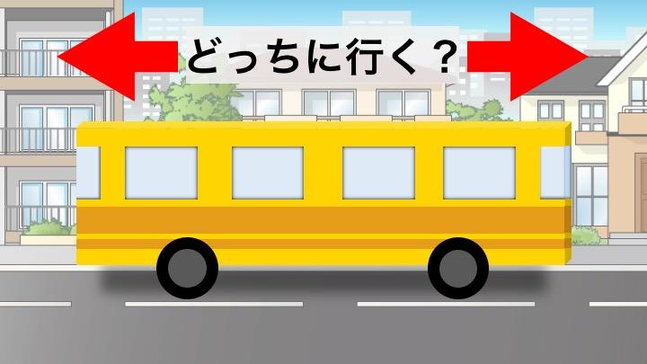 Image of 【問題】バスは右・左どちらに向かうでしょうか?大人には難しいらしい